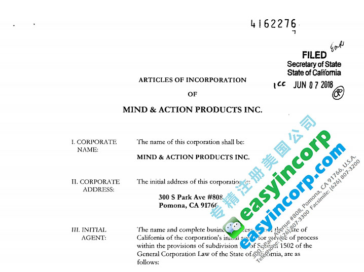 Mind & Action Inc